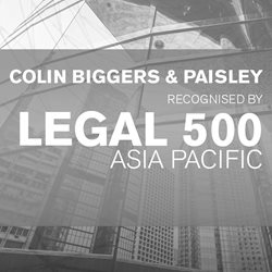 Colin Biggers & Paisley recognised in Legal 500 Asia Pacific 2019 rankings