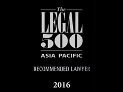 Colin Biggers & Paisley recommended by Legal 500 Asia Pacific 2016